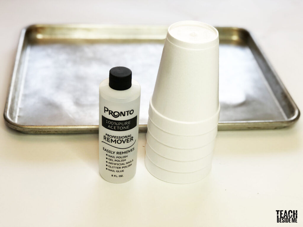 styrofoam acetone slime supplies