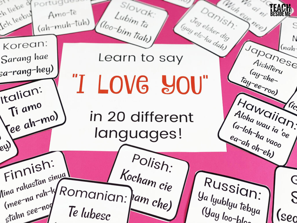 I love you in 20 languages