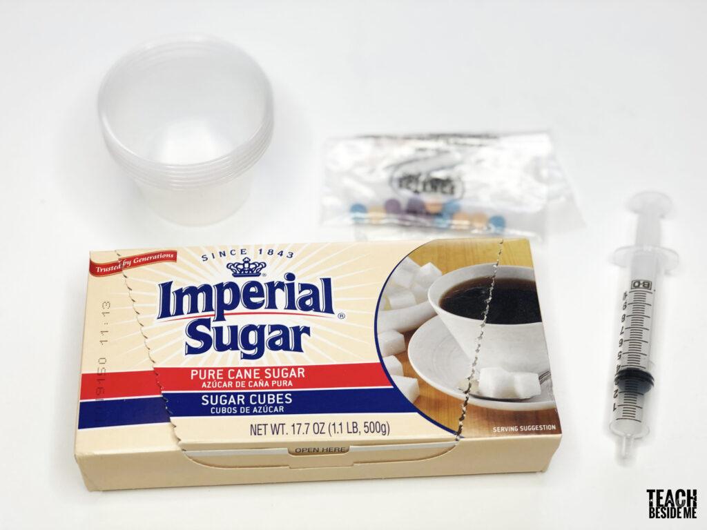 sugar density experiment supplies