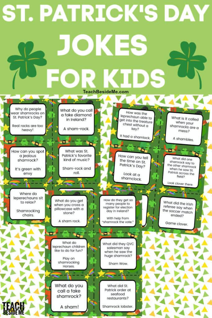 Shamrock St Patricks day jokes for kids