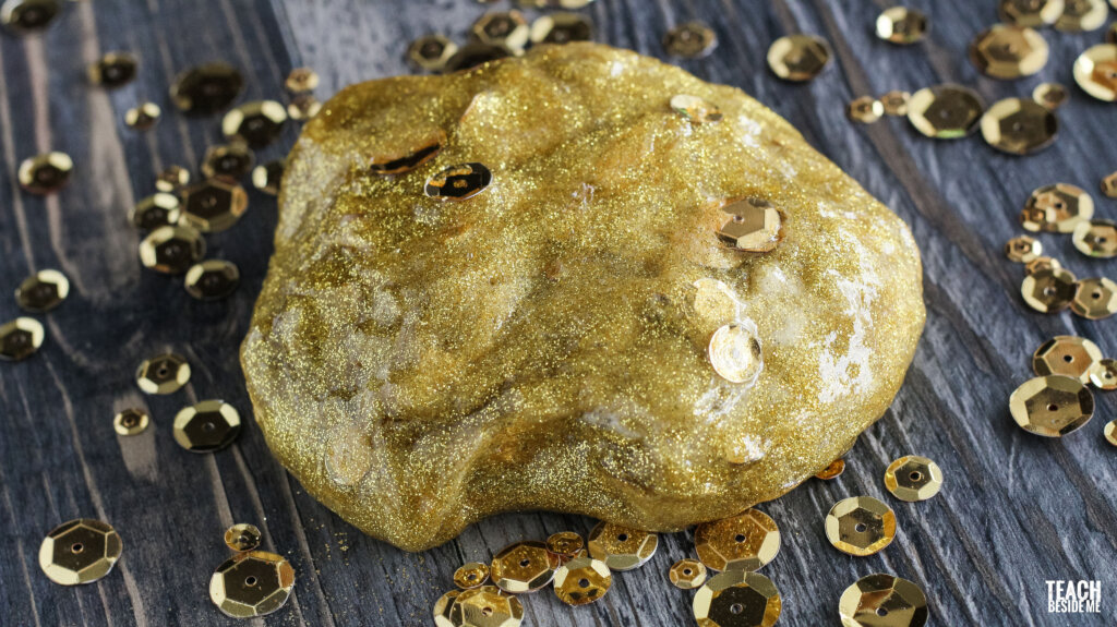 make gold slime St Patrick's day