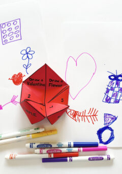 Valentine Fortune Teller Drawing Game for Kids