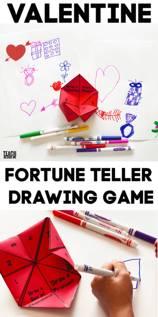 valentine fortune teller drawing game