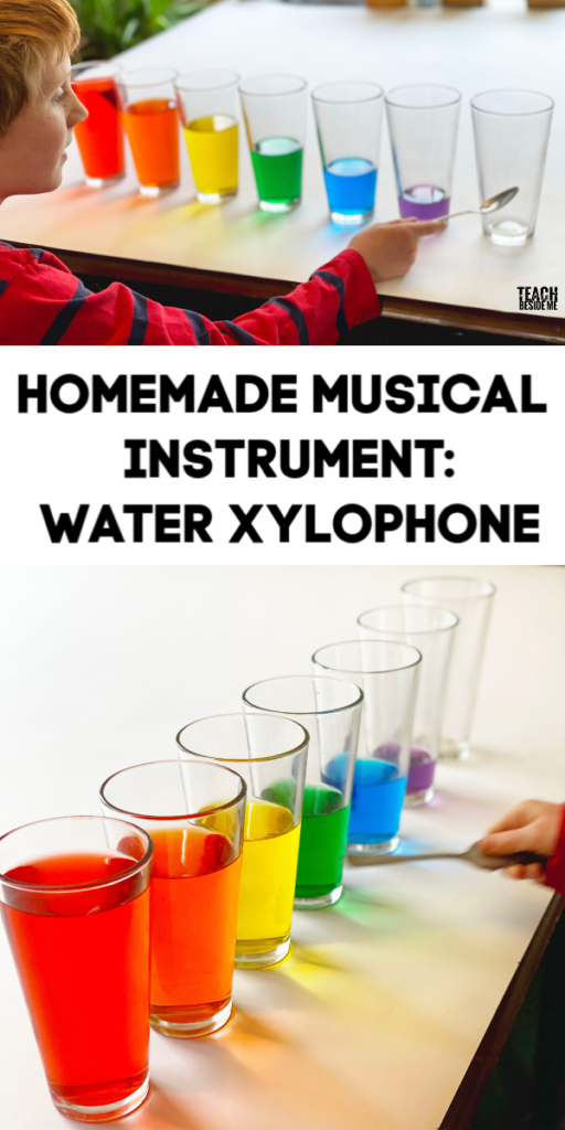Homemade musical instrument- water xylophone