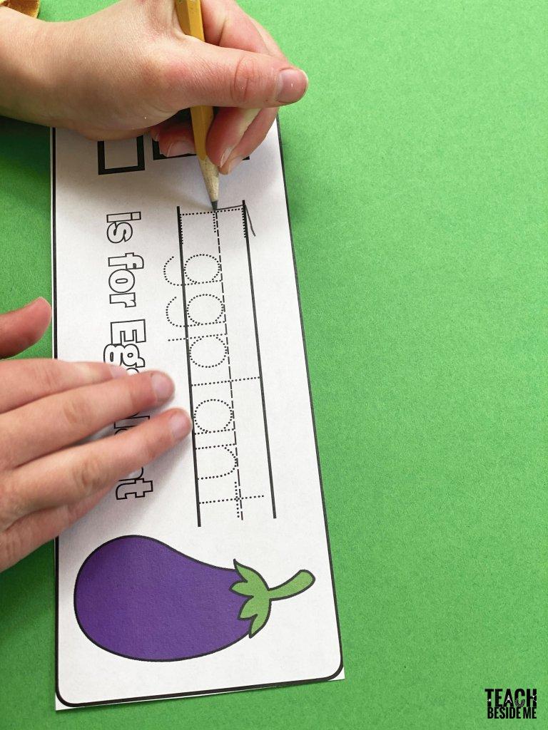 alphabet cards- garden themed