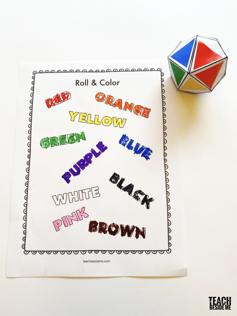 teaching color words sight words