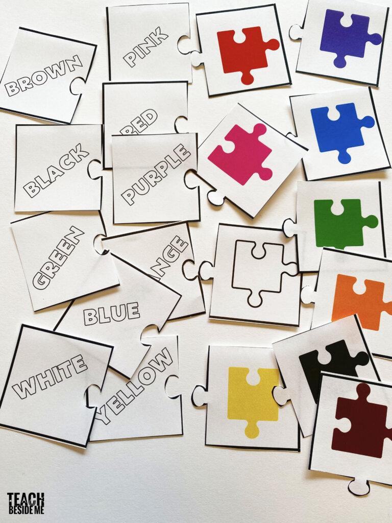 color words puzzles