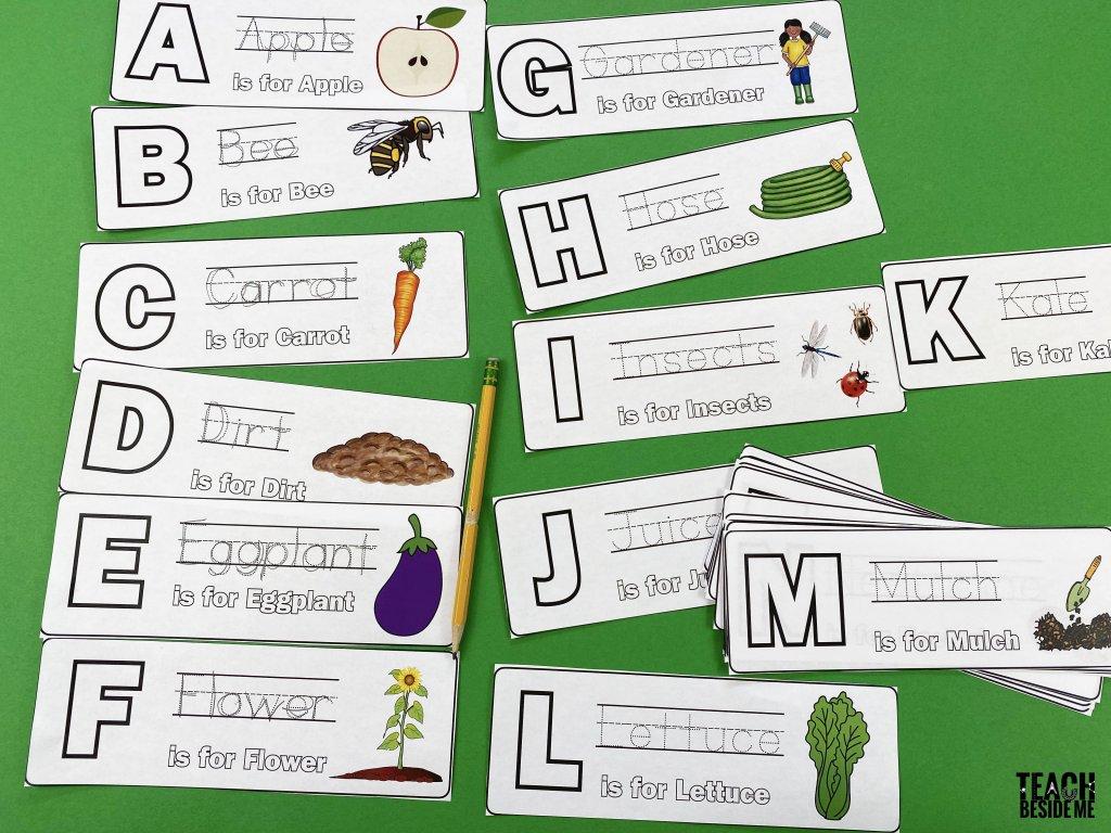 garden alphabet cards