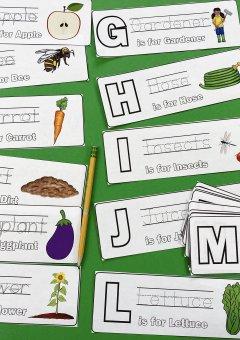 Printable Garden Alphabet Cards