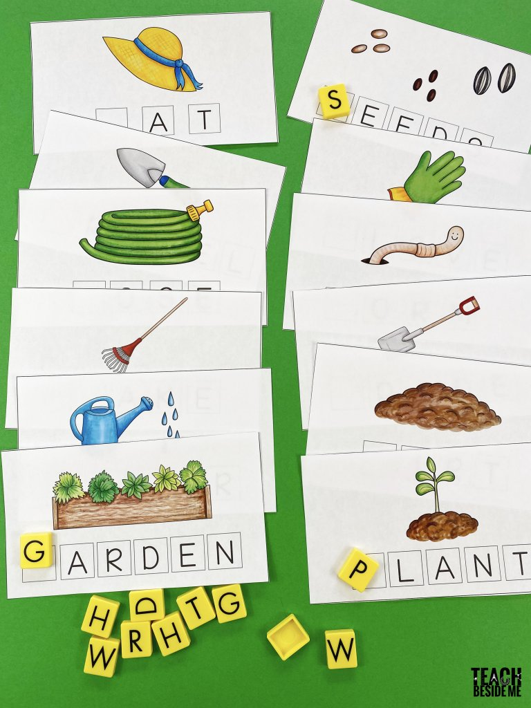 garden spelling mats