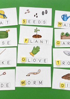 Garden Themed Spelling Word Mats