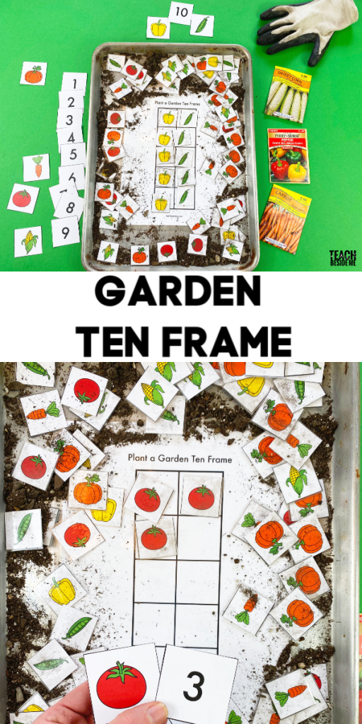 garden ten frame printable math