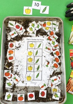 Garden Ten Frame Printable Math Activity