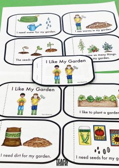 Garden Themed Kindergarten Reading Book