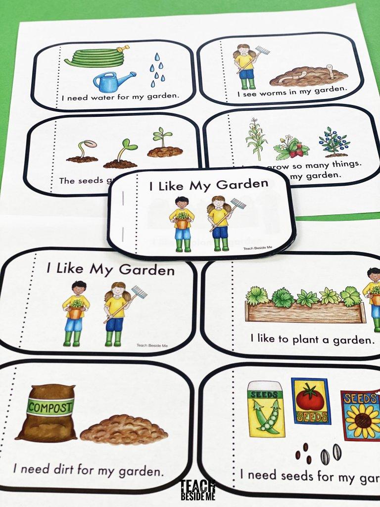 garden themed kindergarten reading book