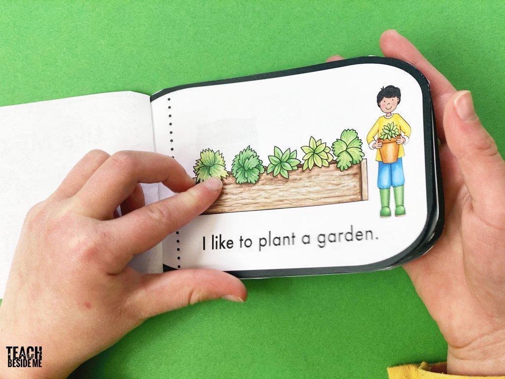 gardening easy kindergarten reading book