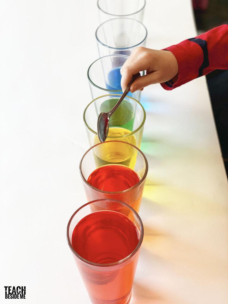 homemade water xylophone