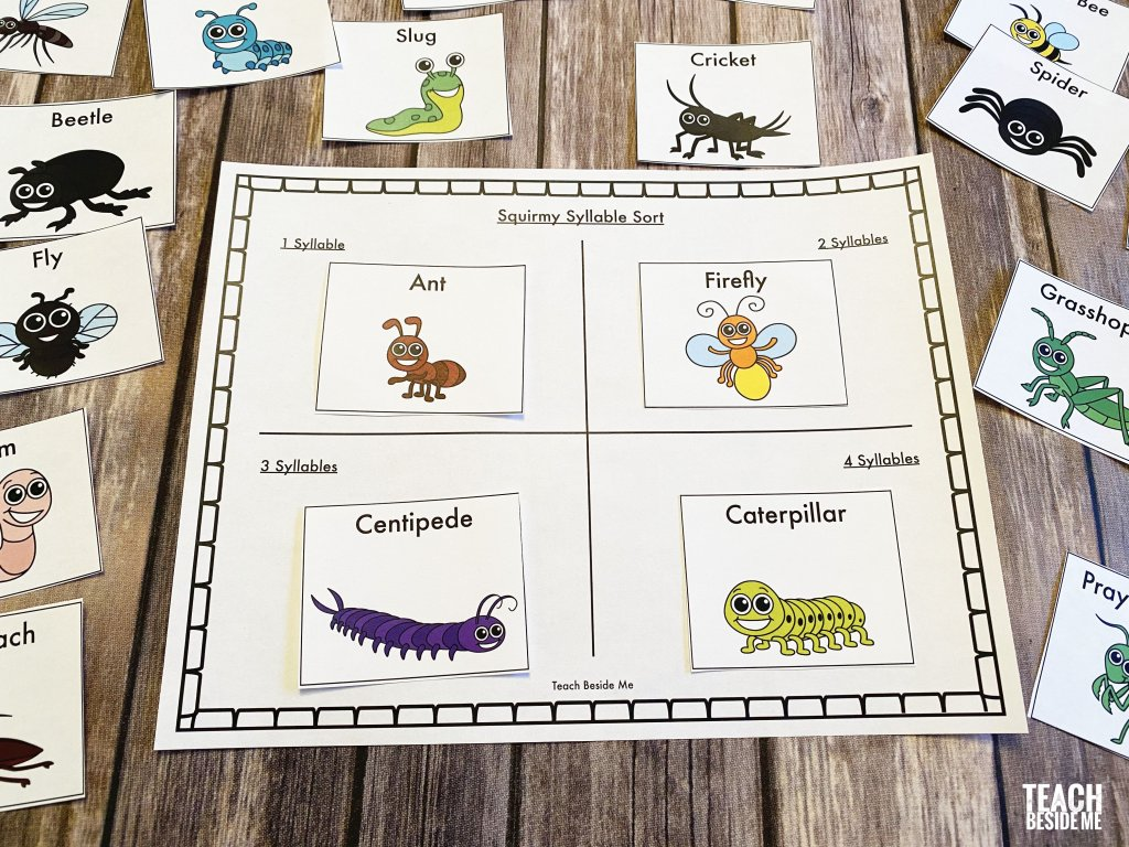 insect syllable words