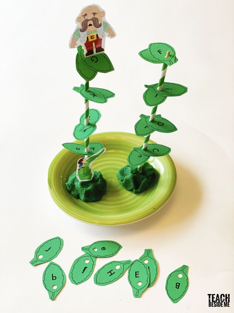 Jack and the Beanstalk Upper and Lower Case Letter Matching