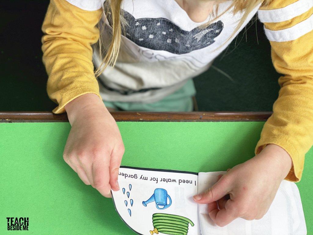 kindergarten reader garden theme