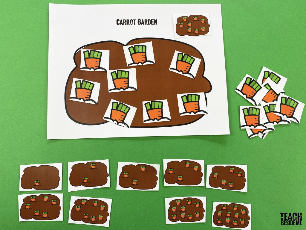 spring preschool math counting mats