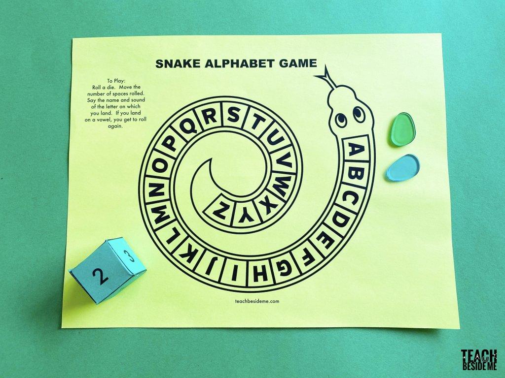 snake alphabet game for preschool