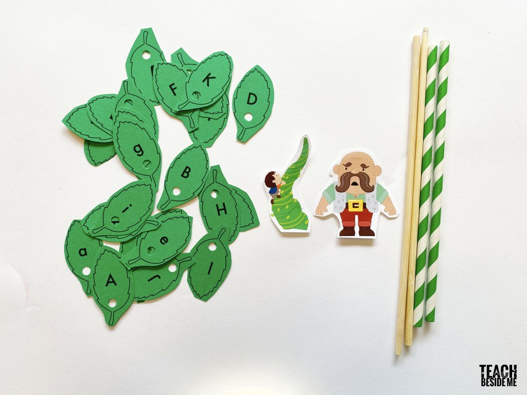 upper and lower case letter matching- jack and the beanstalk
