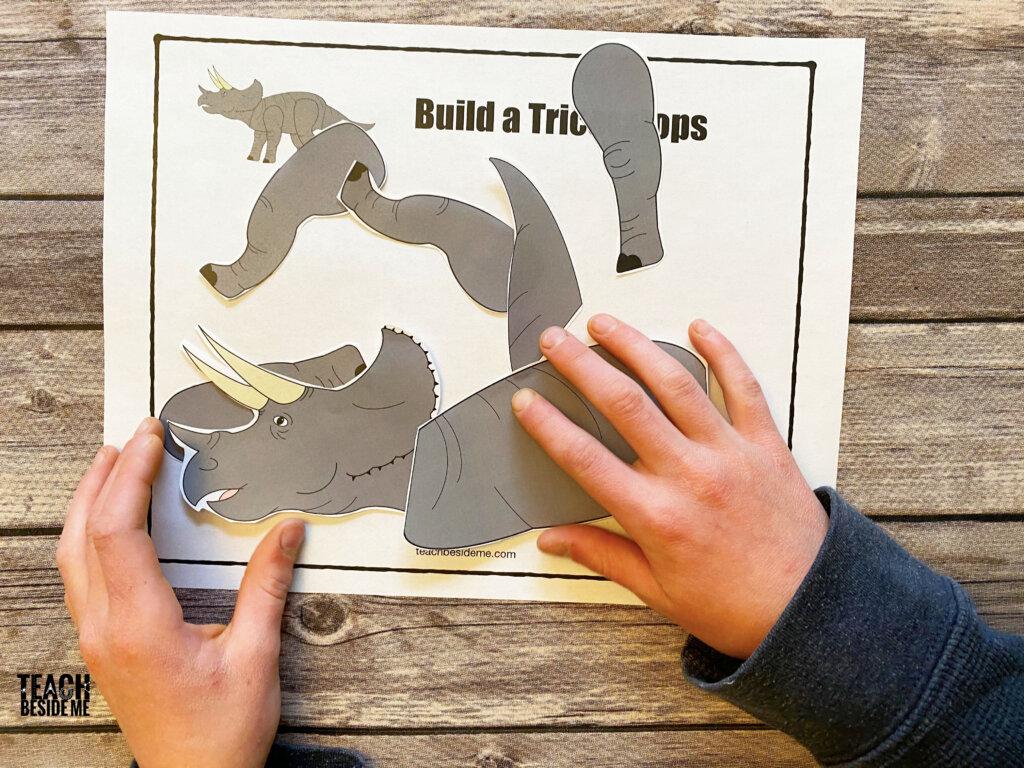 building dinosaur puzzle