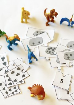 Dinosaur Fossil Counting Puzzles