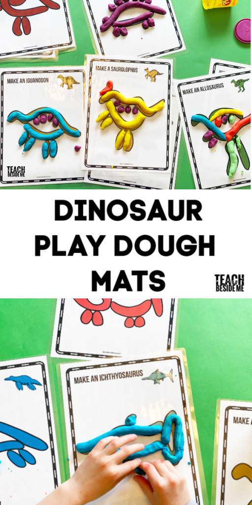 Dinosaur Play Dough Mats