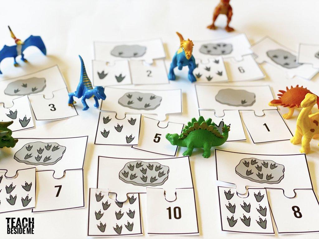 dinosaur fossils- preschool counting