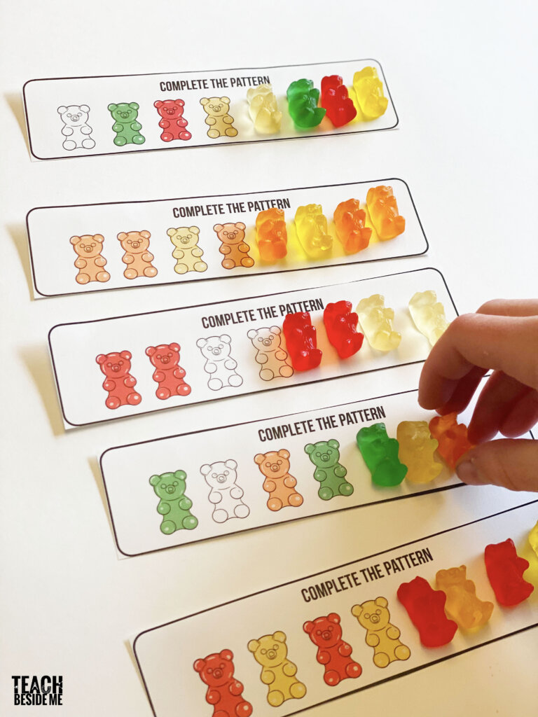 gummy bear pattern cards