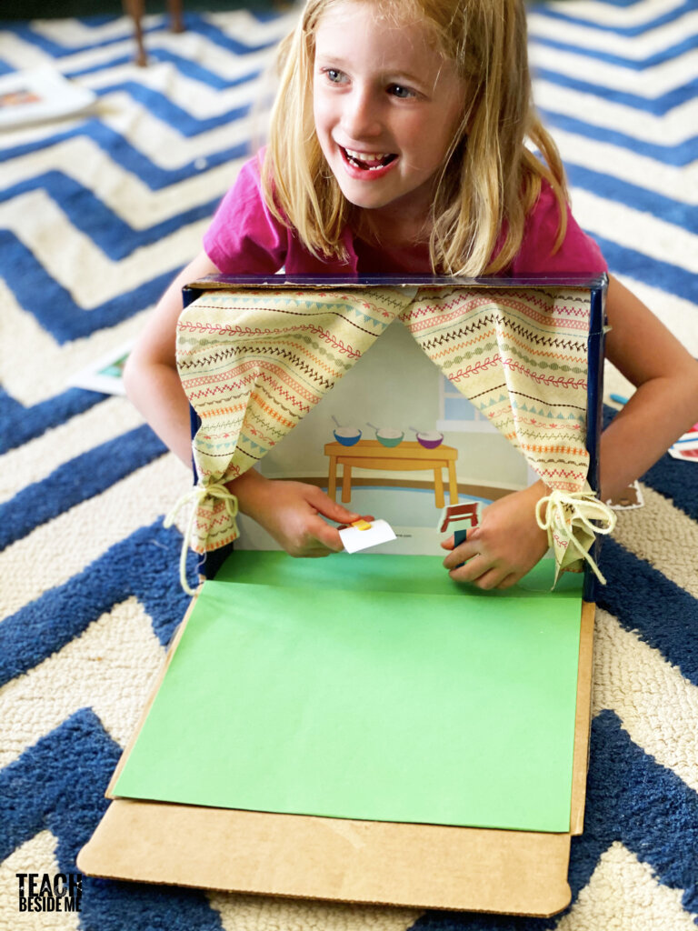 homemade puppet show theater for kids