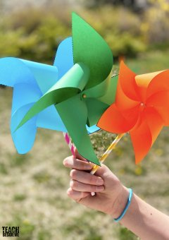 How to Make Pinwheels -With Templates