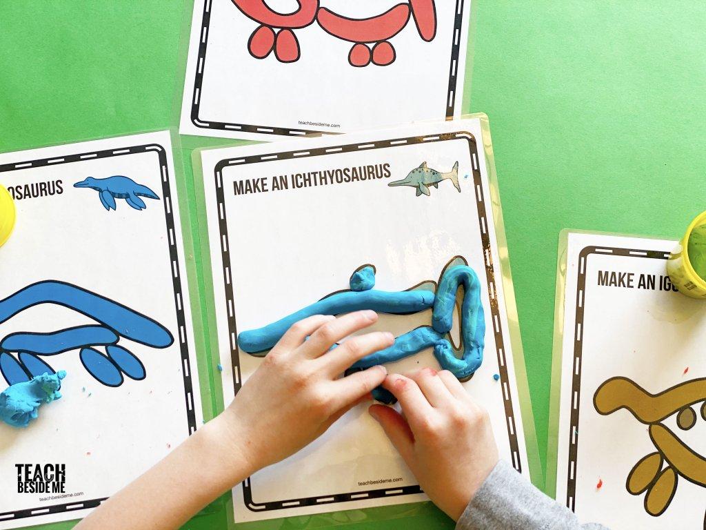 ichthyosaurus play dough mat