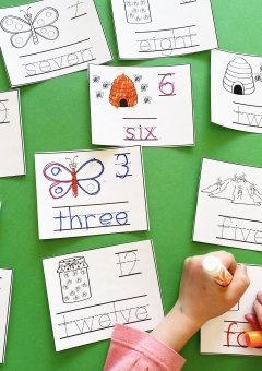 Kindergarten Math: Insect Number Cards