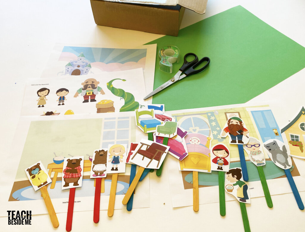 make a puppet show from a box