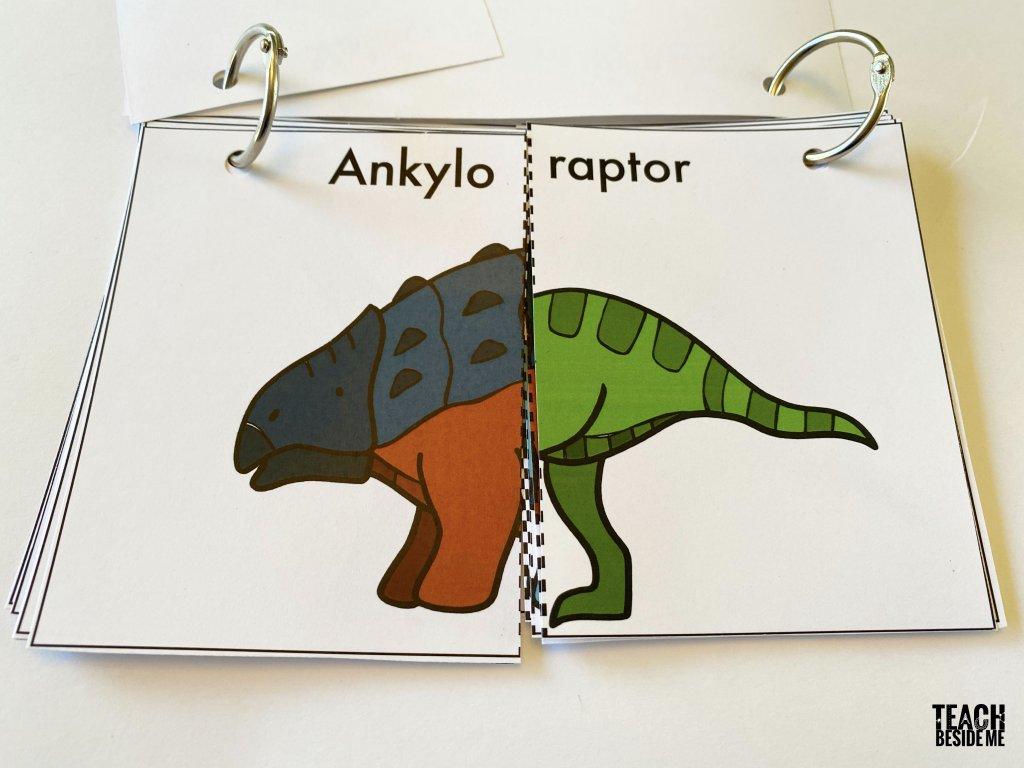 dinosaur flip book