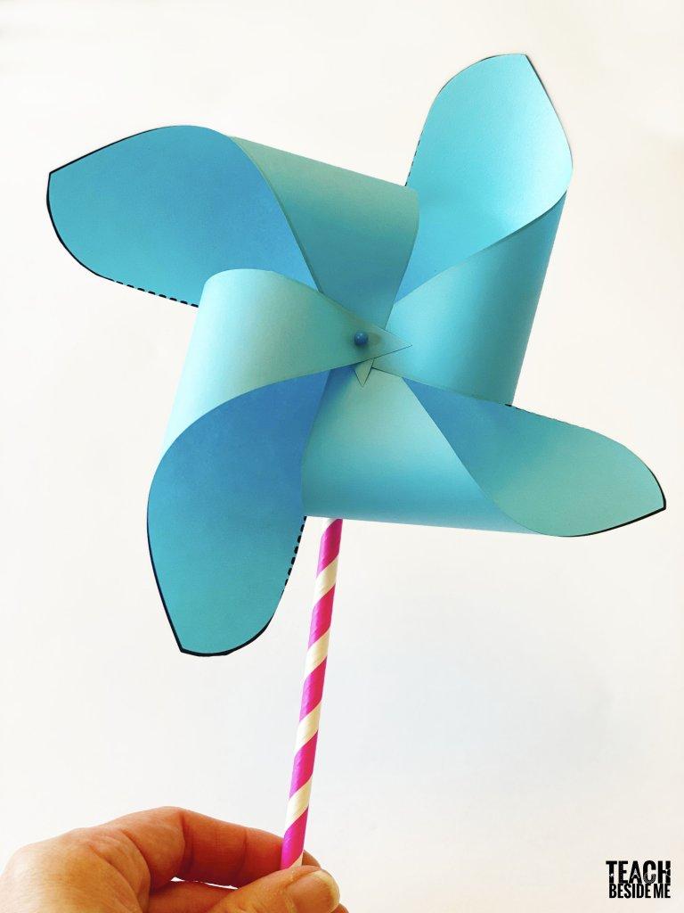 paper pinwheel template