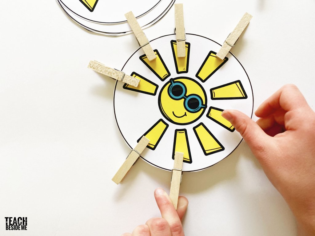 sun count and clip cards
