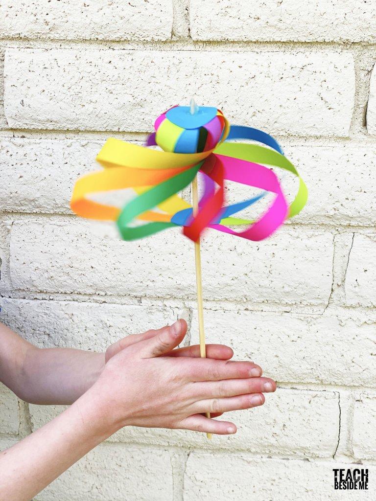 twirligig paper spinner toy