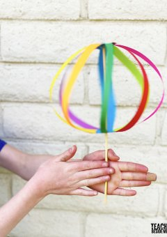 Twirligig~ Rainbow Paper Spinner Toy