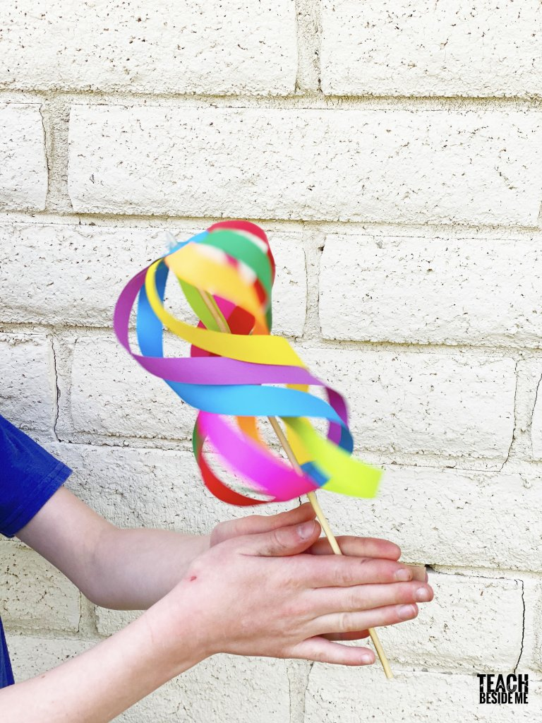 whirligig paper spinner toy