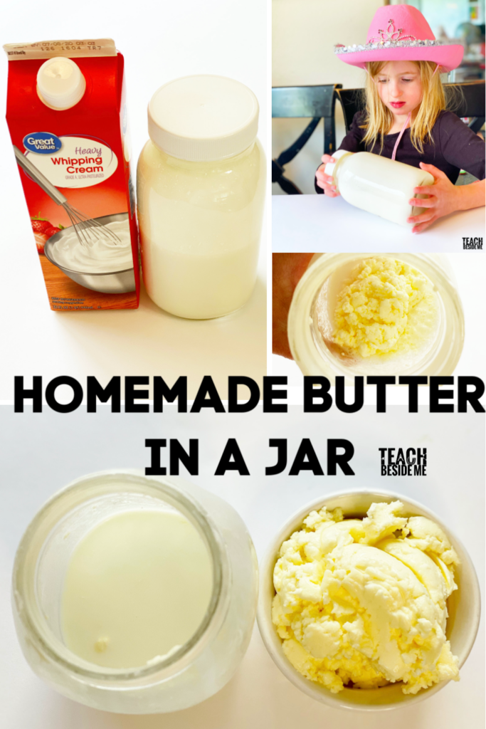homemade butter science with kids