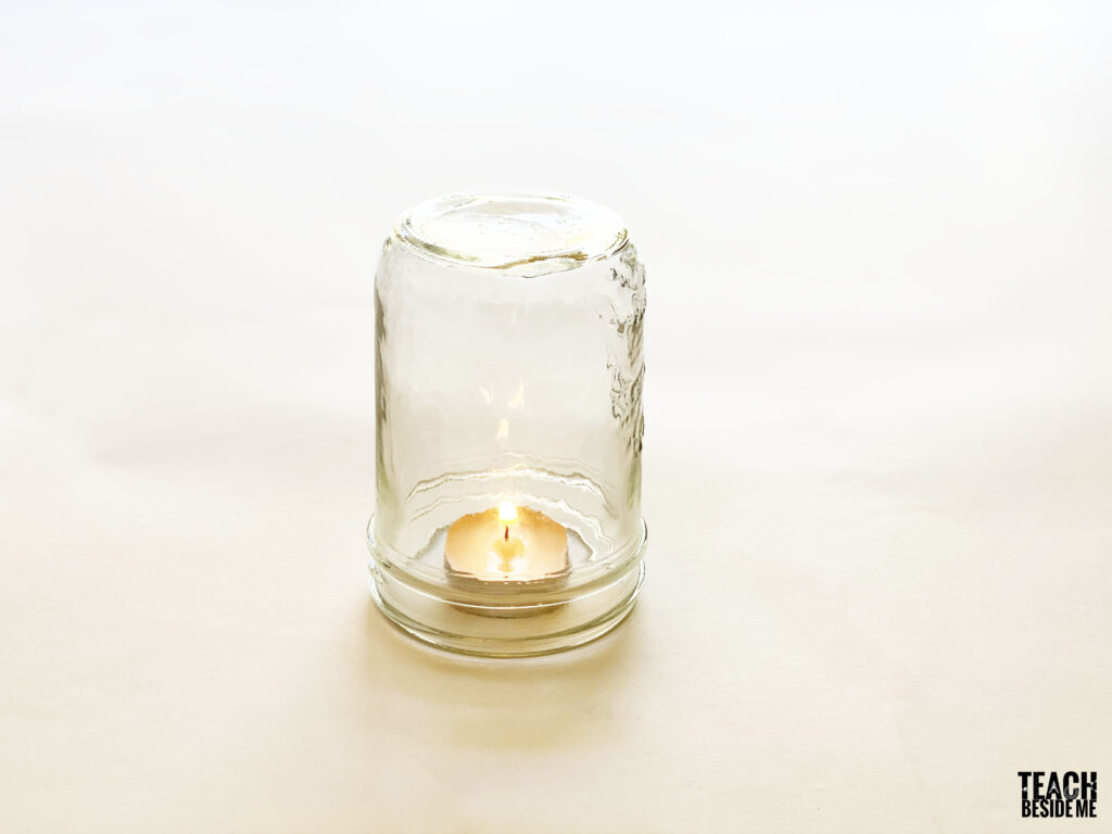 candle under jar fire experiment