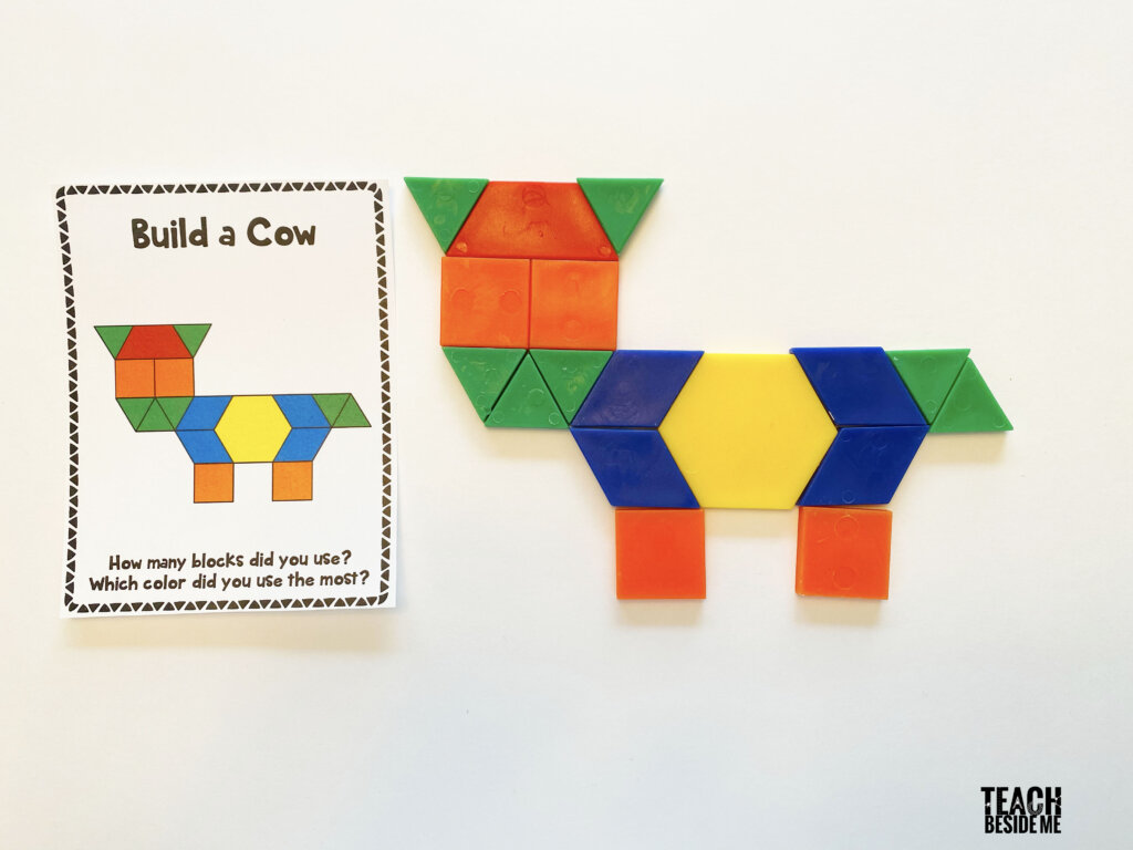 cow pattern block cards