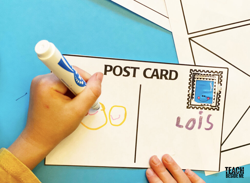 letter writing for kids- post office activities