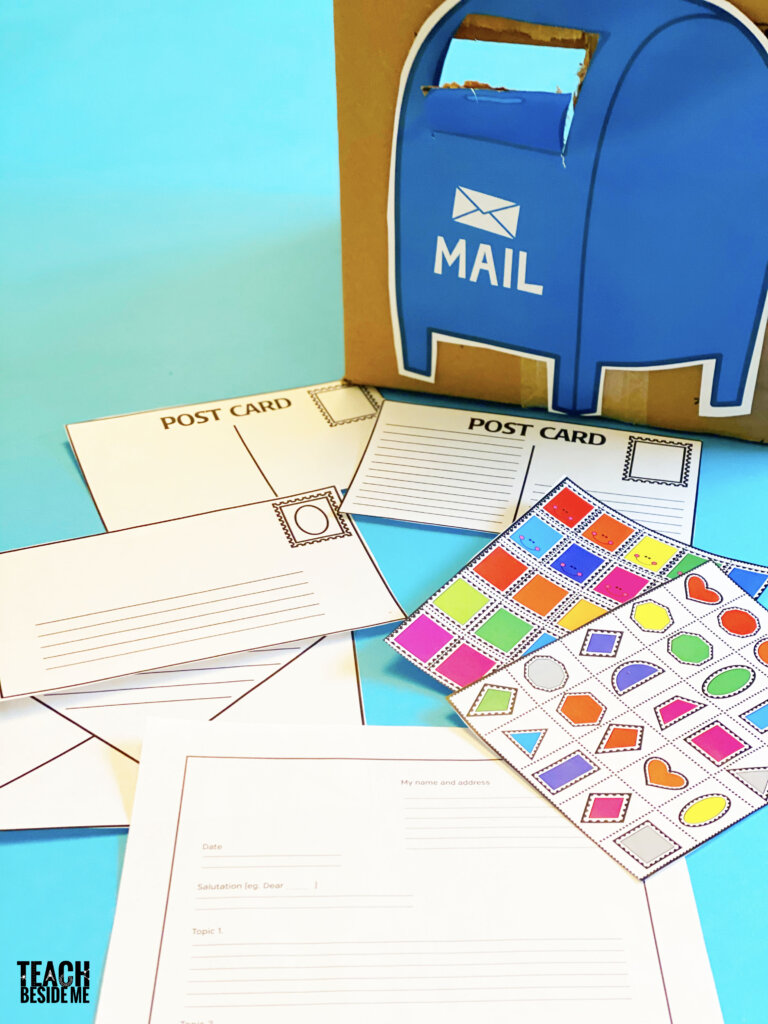 post office activities- letters and dramatic play