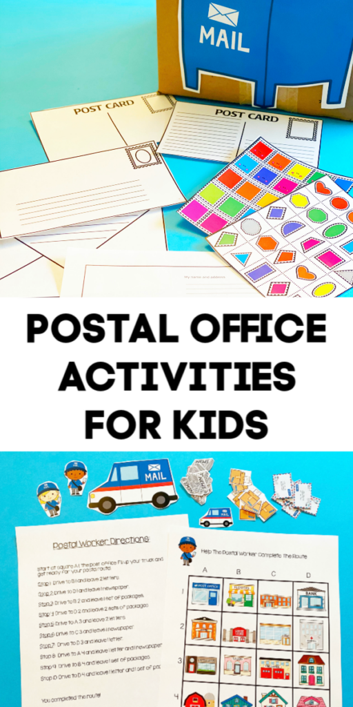 post office coordinate grid & letter writing for kids