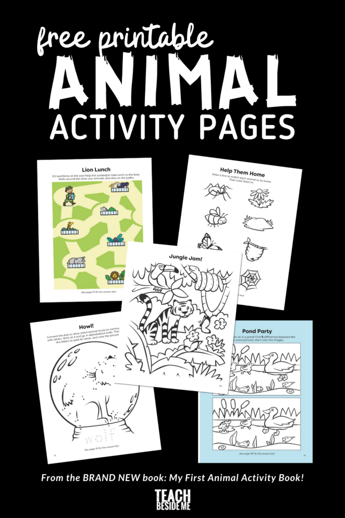 printable animal activity pack